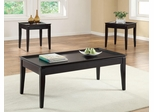 3 Piece Dark Cappuccino Occasional Table Set - 701604