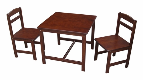 3-Piece Juvenile Table Set in Cottage Oak - JT48-2027