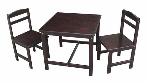 3-Piece Juvenile Table Set in Java - JT15-2027