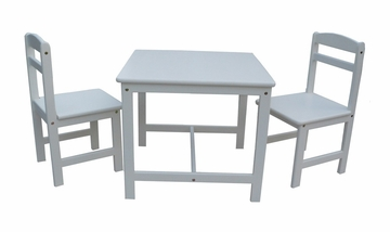 3-Piece Juvenile Table Set in Linen White - JT08-2027