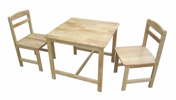 3-Piece Juvenile Table Set in Natural - JT01-2027