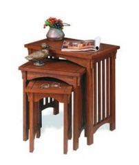 "3-Piece Nested Tables - ""Mission Oak"" - Powell Furniture - 359"