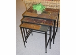 3-Piece Nesting Tables with Slate Tops - 4D Concepts - 601609