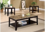 3 Piece Occasional Table Set with Shelf - 700155
