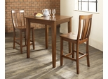 3-Piece Pub Dining Set with Tapered Leg and Shield Back Stools in Classic Cherry Finish - Crosley Furniture - KD320006CH