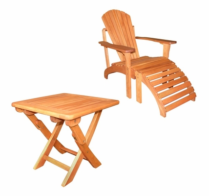 3-Piece Set - Adirondack Chair with Footrest and Side Table - K-51066-62-67-0