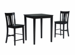 3-Piece Set - Gathering Height Table with 2 San Remo Stools in Black / Cherry - K15-3030-S102-2