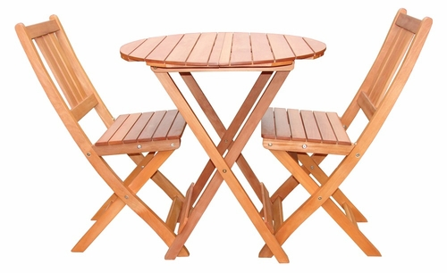 3-Piece Set - Round Table with 2 Chairs - K-53504-53503-2