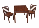 3-Piece Set - Table with 2 Mission Juvenile Chairs in Cottage Oak - K48-2532-263-2