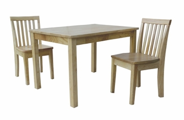 3-Piece Set - Table with 2 Mission Juvenile Chairs in Natural - K01-2532-263-2