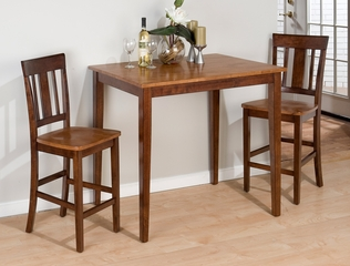 3-Piece Solid Wood Counter Height Table Set - 875-30