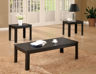 3 Piece Table Set in Black - Coaster - COAST-17002251