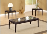 3 Piece Table Set in Dark Walnut - Coaster