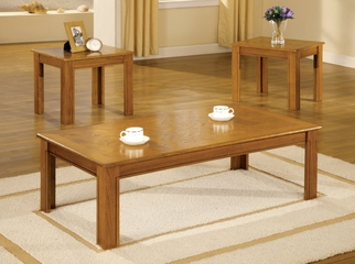 3 Piece Table Set in Oak Veneer - Coaster