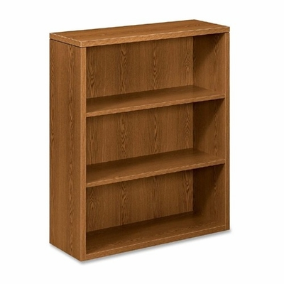 3-Shelf Bookcase - Medium Oak - HON105533MM