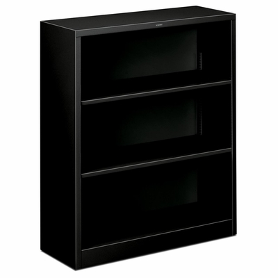 3 Shelf Metal Bookcase - Black - HONS42ABCP