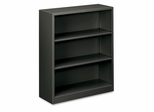 3 Shelf Metal Bookcase - Charcoal - HONS42ABCS