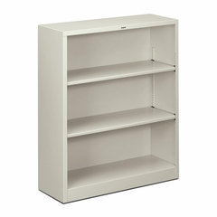 3 Shelf Metal Bookcase - Light Gray - HONS42ABCQ