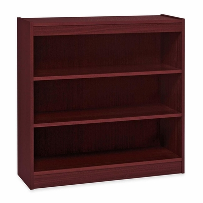 3 Shelf Panel Bookcase - Mahogany - LLR60071
