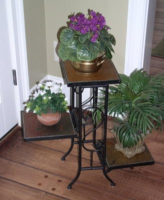 3 Tier Plant Stand with Slate Top - 4D Concepts - 601608