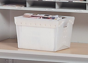 3 Tote Bins - Mayline Office Furniture - 90225