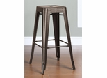 "30"" Backless Bar Stool in Burnished Bronze - 103060BR"