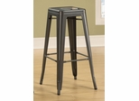 "30"" Backless Bar Stool in Gunmetal - Set of 2 - 103060GN"