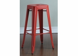 "30"" Backless Bar Stool in Red - Set of 2 - 103060R"