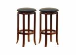 "30"" Faux Leather Swivel Stool - Set of 2 - Winsome Trading - 94631"