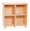 30 Inch Double / Double Storage Tower in Natural - Links - Alaterre - ABCT022