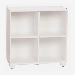 30 Inch Double / Double Storage Tower in White - Links - Alaterre - ABCT025