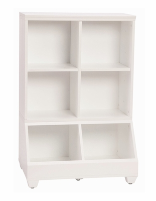 30 Inch Storage Tower in White - Links - Alaterre - ABCT015
