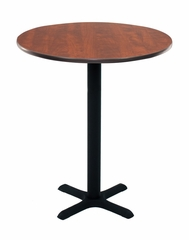 "30"" Round Caf height Lunchroom Table with Cain Metal ""X"" Base - ROF-TCB30RND"