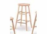 "30"" Scooped Seat Stool - 1S-830"