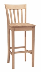 "30"" Slat Back Stool - S-3013"