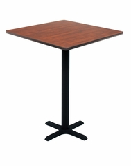 "30"" Square Caf height Lunchroom Table with Cain Metal ""X"" Base - ROF-TCB3030"
