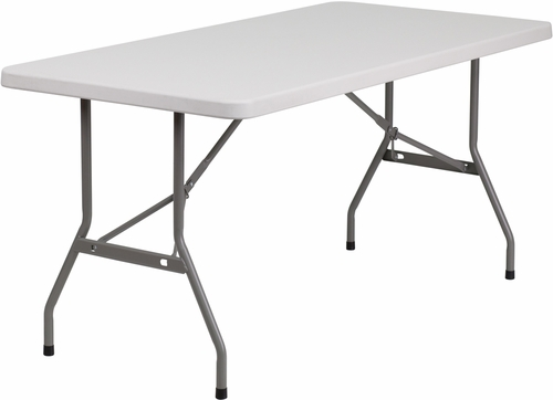 30''W x 60''L Blow Molded Plastic Folding Table  - RB-3060-GG