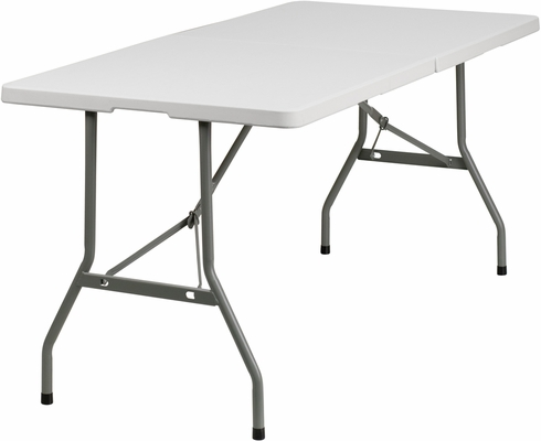 30''W x 60''L Plastic Bi-Folding Table  - RB-3060FH-GG