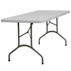 "30""W x 72""L Granite White Plastic Folding Table - DAD-YCZ-183B-GW-GG"