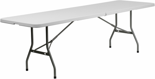30''W x 96''L Plastic Bi-Folding Table  - RB-3096FH-GG