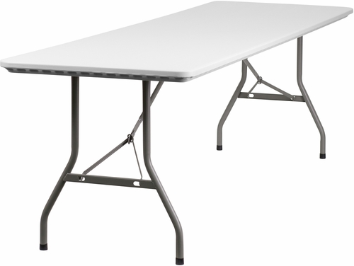 30''W x 96''L Plastic Folding Table - RB-3096-GG