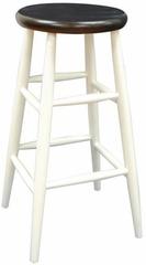 "30"" White Cafe Bar Stool - Carolina Chair - 1S73-830"