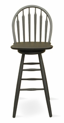 "30"" Windsor Arrowback Swivel Stool in Black - S46-613"