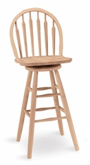 "30"" Windsor Arrowback Swivel Stool - S-613"