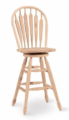 "30"" Windsor Swivel Stool with Steambent Arrows - 1206-30"