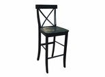 "30"" X-Back Bar Height Stool in Black - S46-6133"