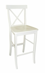 "30"" X-Back Bar Height Stool in Linen White - S31-6133"