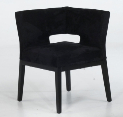 312 Corner Chair in Black Microfiber - Armen Living - LC312CRMFBL