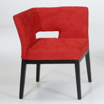 312 Corner Chair in Red Microfiber - Armen Living - LC312CRMFRE