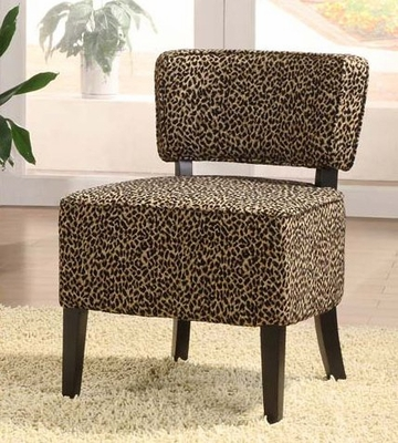 3121 St. Croix Armless Club Chair in Leopard Chenille Fabric - Armen Living - LC3121CLLE